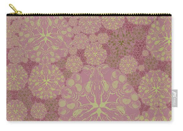 Blob Flower Painting #3 Pink Carry-all Pouch