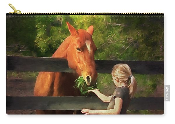 Blond With Horse Carry-all Pouch