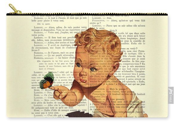 Baby Boy With Butterfly Nursery Art Carry-all Pouch