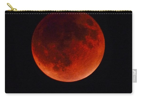 Blood Moon #4 Of Tetrad, Without Location Label Carry-all Pouch