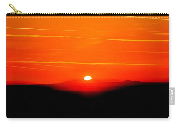 Blood Red Sunset Carry-all Pouch
