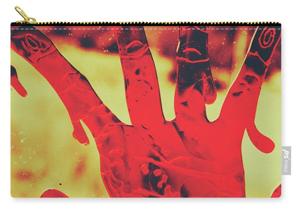 Bloody Halloween Palm Print Carry-all Pouch