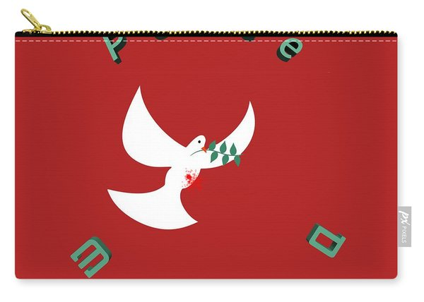 bloody peace Wounded dove symbol of peace  Carry-all Pouch
