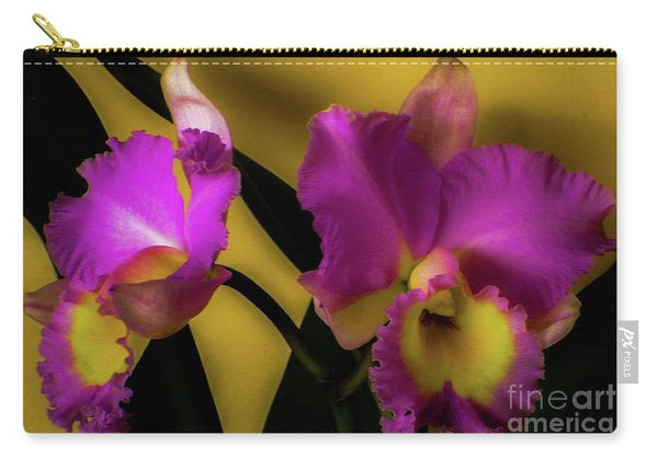 Blooming Cattleya Orchids Carry-all Pouch