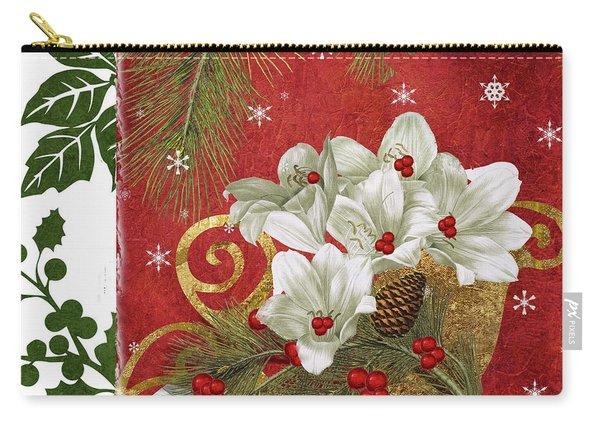 Blooming Christmas II Carry-all Pouch