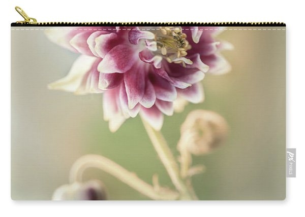 Carry-all Pouch featuring the photograph Blooming Columbine Flower by Jaroslaw Blaminsky