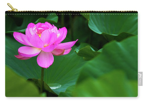 Blooming Pink Lotus Lily Carry-all Pouch