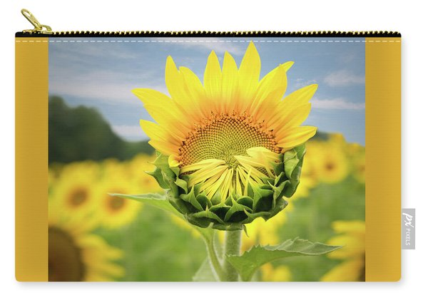 Blooming Sunflower Carry-all Pouch