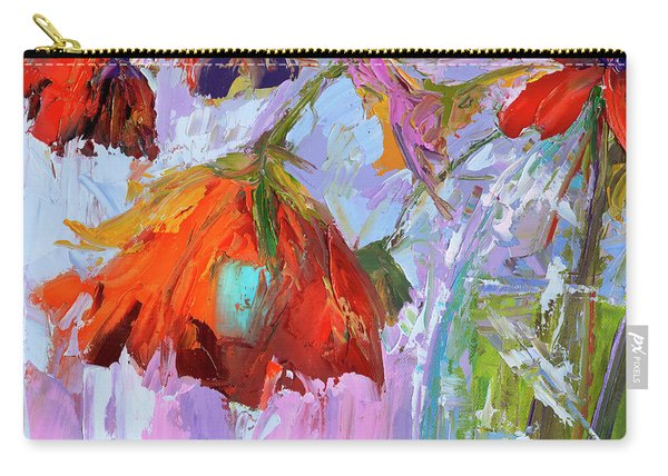 Blossom Dreams In A Vase Oil Painting, Floral Still Life Carry-all Pouch