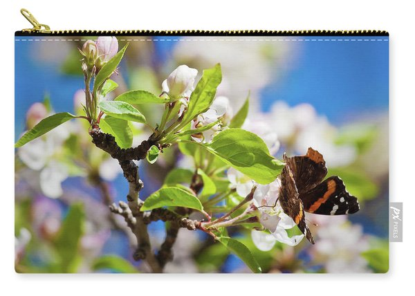 Blossoms And Butterfly Carry-all Pouch