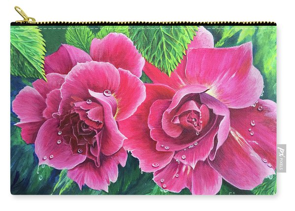 Carry-all Pouch featuring the painting Blossom Buddies by Nancy Cupp