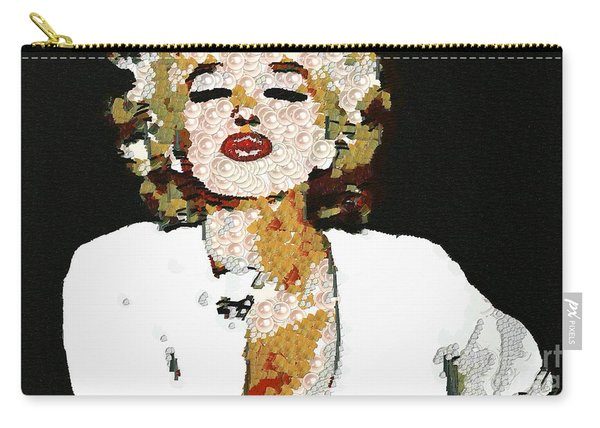 Blow Me A Kiss Marilyn Monroe In The Mix Carry-all Pouch