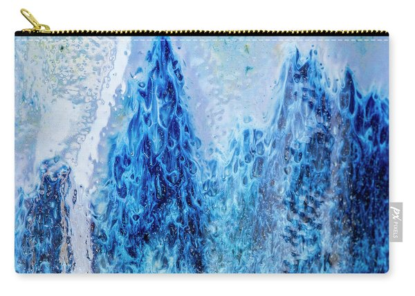 Blue Abstract Two Carry-all Pouch