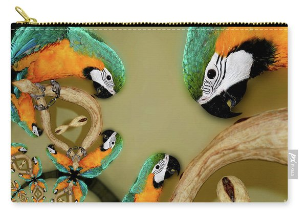 Blue And Gold Macaw Parrot Abstract Carry-all Pouch