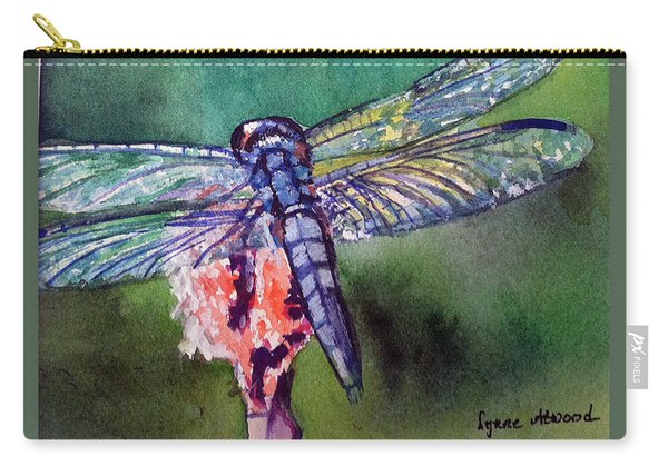 Blue And Green Dragonfly Carry-all Pouch