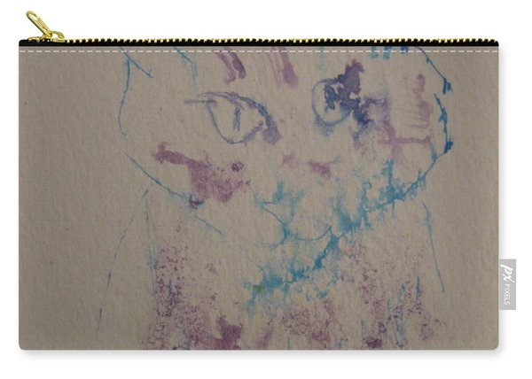 Blue And Purple Cat Carry-all Pouch