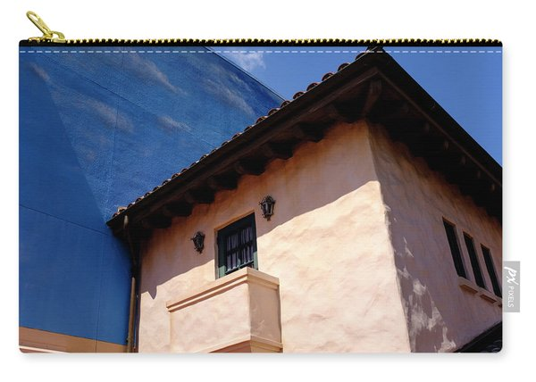 Blue And Vintage Color Architecture Photo In Saint Augustine Flo Carry-all Pouch