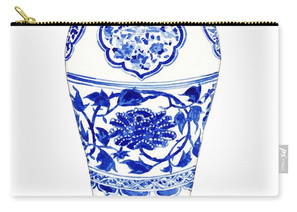 Blue And White Ginger Jar Chinoiserie 3 Carry-all Pouch
