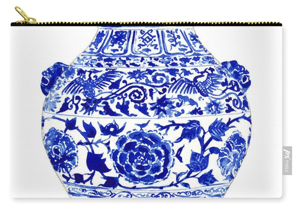Blue And White Ginger Jar Chinoiserie 4 Carry-all Pouch