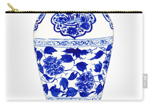 Blue And White Ginger Jar Chinoiserie Jar 1 Carry-all Pouch