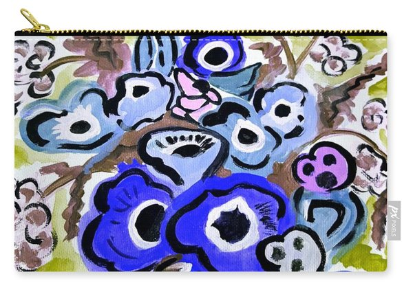 Blue Anemones Carry-all Pouch