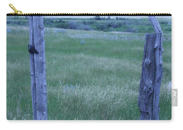 Blue Barbwire Carry-all Pouch