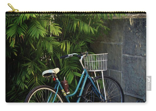 Blue Bike-  By Linda Woods Carry-all Pouch