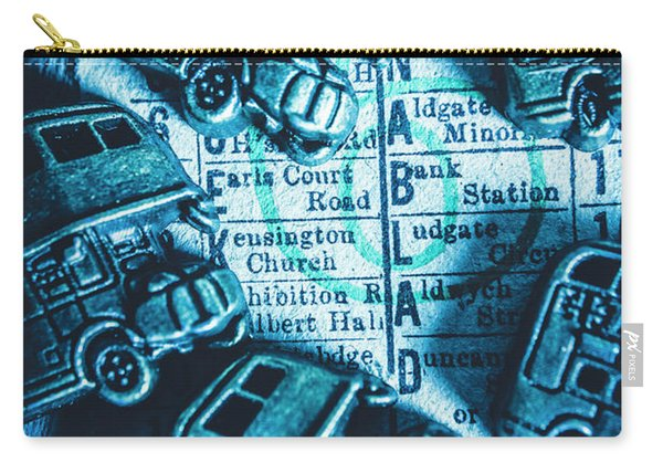 Blue Britain Bus Bill Carry-all Pouch