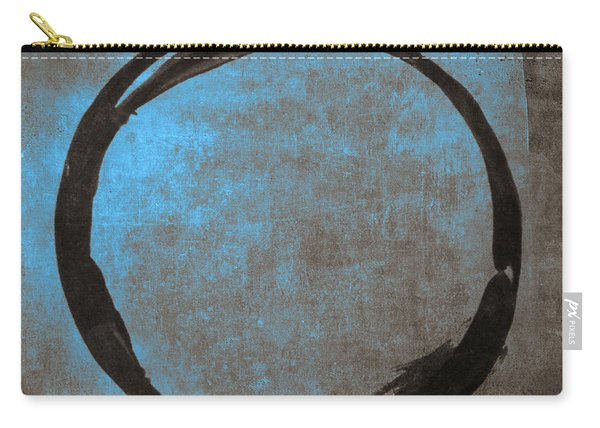 Blue Brown Enso Carry-all Pouch