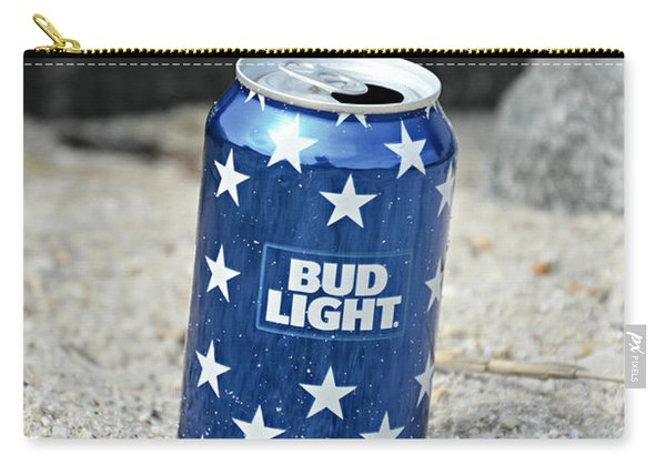 Blue Bud Light Carry-all Pouch