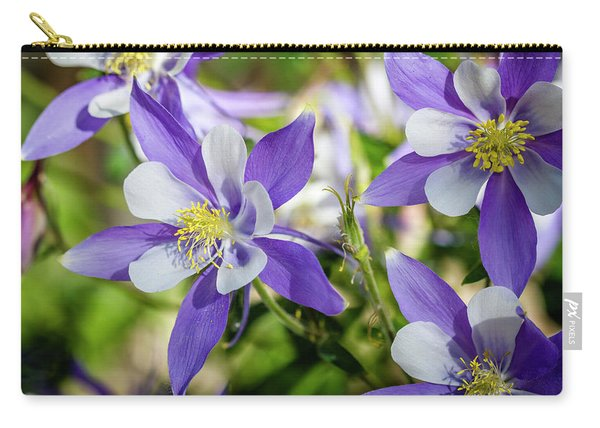 Blue Columbine Wildflowers Carry-all Pouch