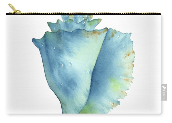 Blue Conch Shell Carry-all Pouch