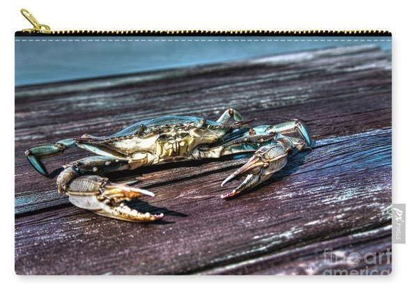 Blue Crab - Above View Carry-all Pouch