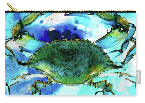 Blue Crab - Abstract Seafood Painting Carry-all Pouch