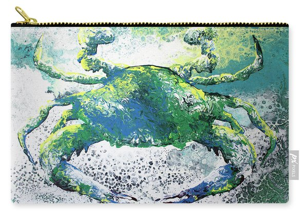 Blue Crab Abstract Carry-all Pouch