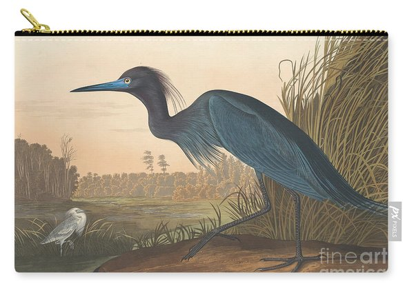 Blue Crane Or Heron Carry-all Pouch