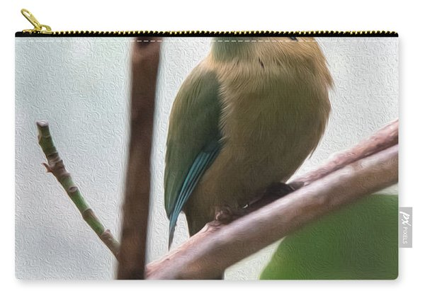 Blue-crowned Motmot Oil Carry-all Pouch