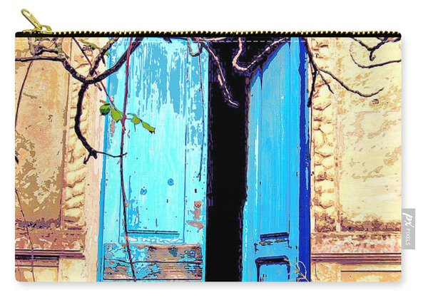 Blue Doors In Tuscany Carry-all Pouch