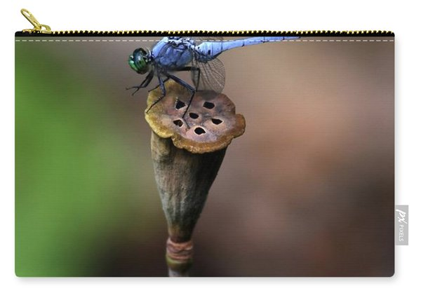 Blue Dragonfly Dancer Carry-all Pouch