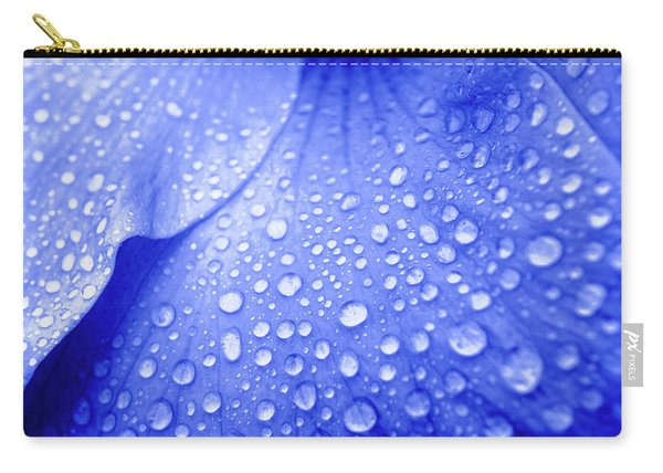 Blue Droplets Carry-all Pouch
