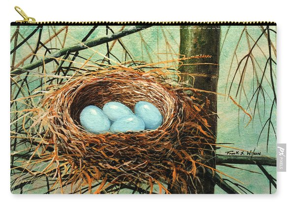 Blue Eggs In Nest Carry-all Pouch