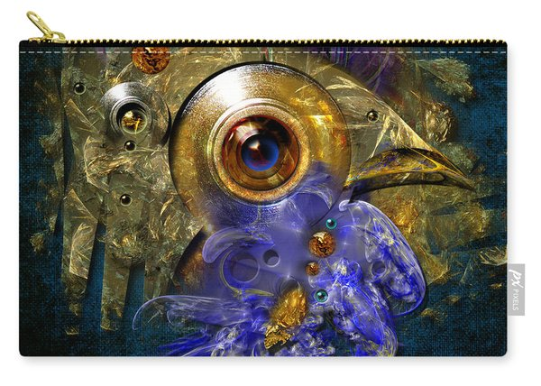 Blue Eyed Bird Carry-all Pouch