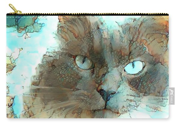 Blue Eyed Persian Cat Watercolor Carry-all Pouch