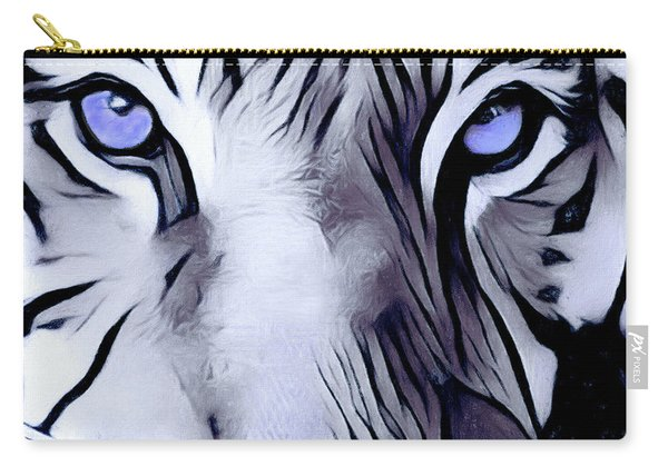 Blue Eyed Tiger Carry-all Pouch