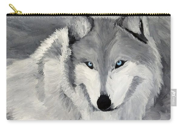 Carry-all Pouch featuring the painting Blue Eyes by Kevin Daly