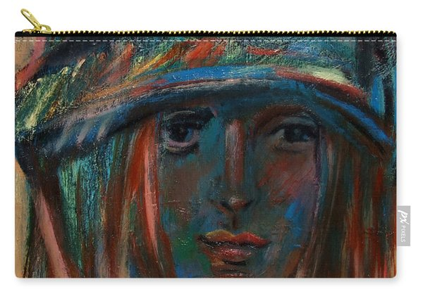 Blue Faced Girl Carry-all Pouch