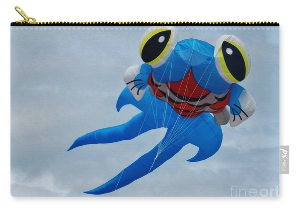 Blue Fish Kite Carry-all Pouch