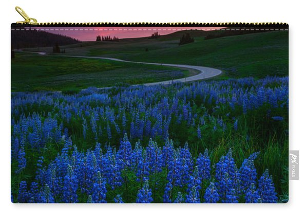 Carry-all Pouch featuring the photograph Blue Flame by Dustin  LeFevre