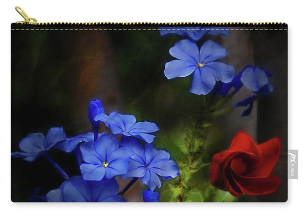 Blue Flowers Growing Up The Apple Tree Carry-all Pouch