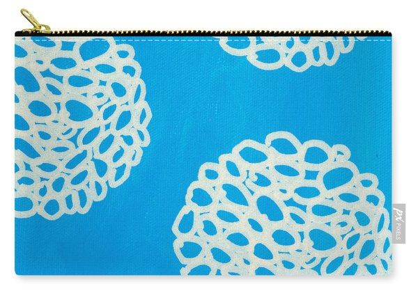 Blue Garden Bloom Carry-all Pouch